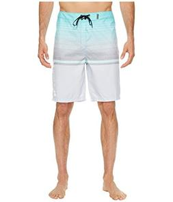 "Hurley Men's Rafters 21"" Boardshorts Light Aqua 42"