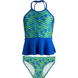Peplum Tankini Set, Aussie Green Top, Aussie Green Bottom, G