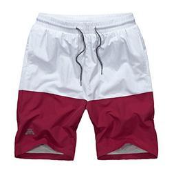SILKWORLD Men's Swim Trunks Mesh Lining Beach Shorts with Po