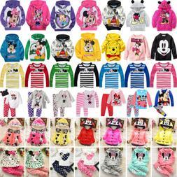 Toddler Kids Girls Cartoon Minnie Mickey Mouse Hoodie Coat S