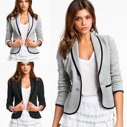 Women's OL Work Office Lady Long Sleeve Casual Blazer Suit J