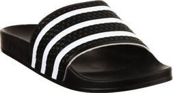 save off 46009 cac10 adidas Originals adilette Slide - Black White Black - 12