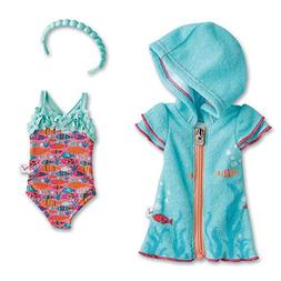 American Girl WellieWishers Fun Fish Swimsuit & Cover-Up for