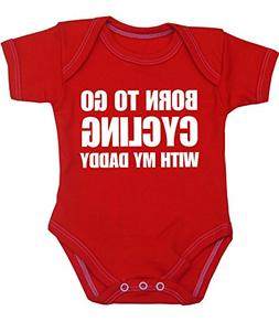 BabyPrem Baby Born to go Cycling with my Daddy Bodysuit Vest