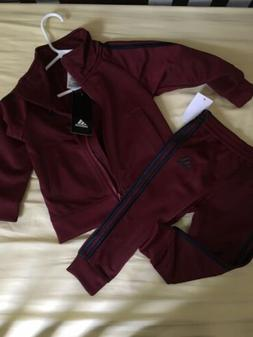Adidas Baby Boys 12 Month Zip Track Suit Jacket and Pant Set