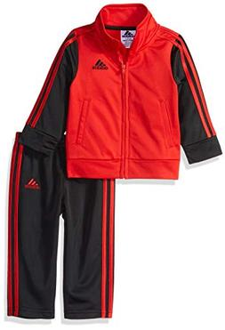 adidas Baby Boys Colorblock Tricot Tracksuit 2-Piece Set, Ic
