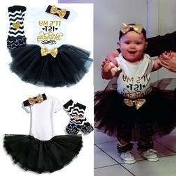 Baby Girl 1st Birthday Dress Tutu Princess Party Outfits Set