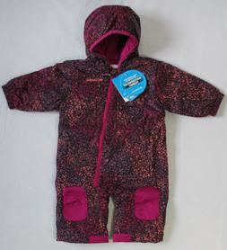 Columbia Baby Girl 6-12M Infant Hot-Tot Suit 1-Pc Snowsuit D