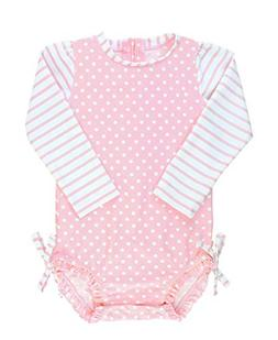 RuffleButts Baby/Toddler Girls Long Sleeve One Piece Swimsui