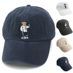 Baseball Cap Polo Bear RL Embroidery Tuxdeo Pattern Outdoor