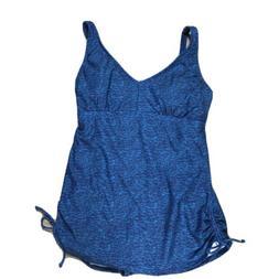 bathing suit 16 turquoise one piece v