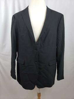 Merona Big & Tall Two Button Stretch Suit Coat Black Men's S