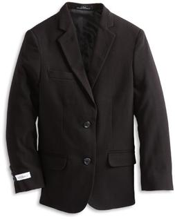Calvin Klein Big Boys' Husky Bi-Stretch Blazer,Black,14