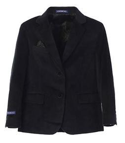 Gioberti Big Boys Formal Velvet Blazer with Solid Buttons, B