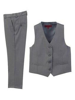 Gioberti Big Boys Gray 2 Piece Vest Pants Formal Outfit Set