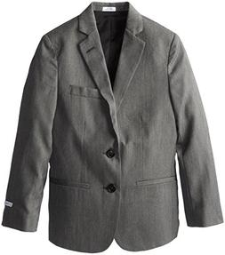 Calvin Klein Big Boys' CK Pin Dot Jacket, Light Grey, 16