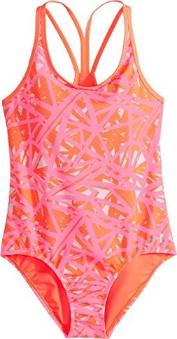 Under Armour Big Girls' One Piece Swimsuit, Divergent London