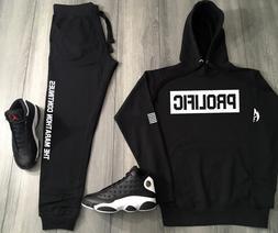 Black & White Prolific Track Suit To Match Air Jordan 13 Nip