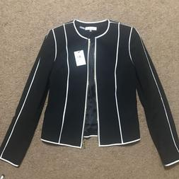 Calvin Klein Black Suit Jacket With White Stripe Business Wo
