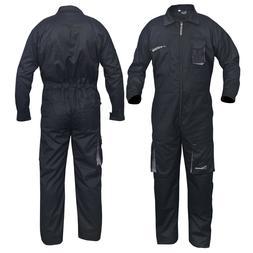 Black Work Wear Men's Overalls Boiler Suit Coveralls Mechani