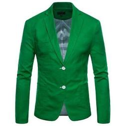 Blazer Men's Knitting Suits jacket Acrylic Cotton Linen