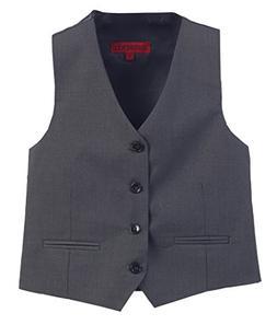 Gioberti Boy's 4 Button Formal Suit Vest, Charcoal, Size 18