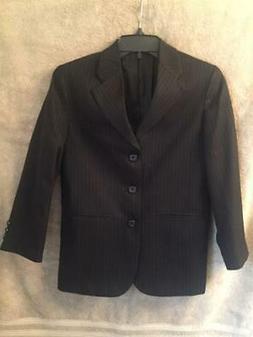 Dockers Boy's Black Pinstripe Suit Jacket/Sport Coat Sz. 10