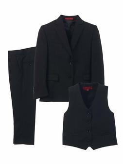 Gioberti Boy's Formal 3 Piece Suit Set, Navy, Size 14