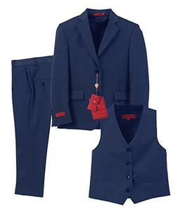 Gioberti Boy's Formal 3 Piece Suit Set, Royal Blue, Size 7