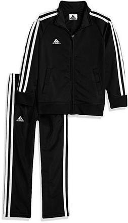 Adidas Boys' 2-Piece Track Suit - Pants & Jacket, Black Sz 5