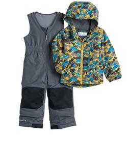 Columbia Boys 2T 3T Exposed Ice Outgrown Camouflage Jacket B