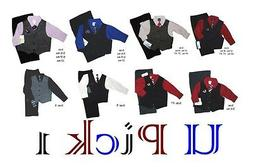 BOYS 4 PC SET DRESS UP OUTFIT SUIT CHURCH WEDDING SIZE 3 MO