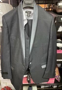 Tazio Boys 4 Piece Classic Suit Charcoal Size 14  $129.00