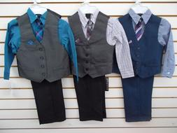 Boys Van Heusen $50 4pc Assorted Vest Suits Size 4 - 7