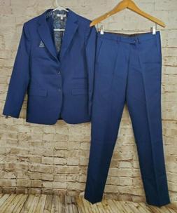 Isaac Mizrahi Boys' Big 3 Piece Two Button Birdseye Suit Set