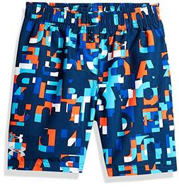 Under Armour Boys' Big Volley Fashion Swim Trunk, Multi Blue