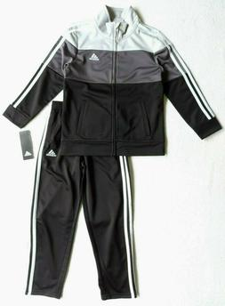 adidas Boys Colorblocked Tricot Track Jacket and Pant Set