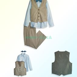 Van Heusen Boys' Little 4-Piece Formal Bow Tie Vest Set Line
