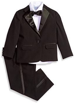 IZOD Boys' Little Formal Tuxedo Dresswear Set, Black, 6
