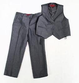 Gioberti Boys Suit Charcoal Gray Size 6 Vest Four Button Two