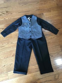 Boys Suit Size 4T Dockers Top Shirt Vest Pants Outfit Weddin