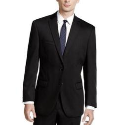 Calvin Klein  Men's Black Solid Modern-Fit Suit Jacket Size
