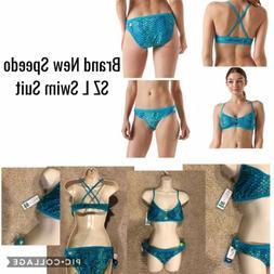 Brand New Speedo SZ L Swim Suit Mermaid Blue Green NWT