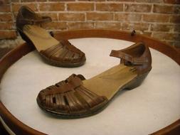 Clarks Brown Leather Wendy Suite Maryjane Fisherman Shoe 8 S