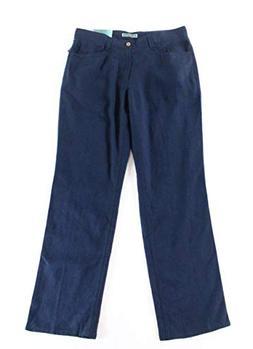 Cubavera Mens 38X32 Button Zip-Fly Linen Blend Pants Blue 38