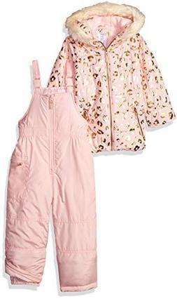Carter's Girls' Toddler 2-Piece Heavyweight Printed Snowsuit