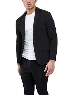 Daupanzees Mens Casual Two Button Suits Lapel Blazer Jacket
