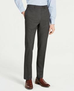 Calvin Klein Charcoal Black Slim-Fit Stretch Solid Suit Dres