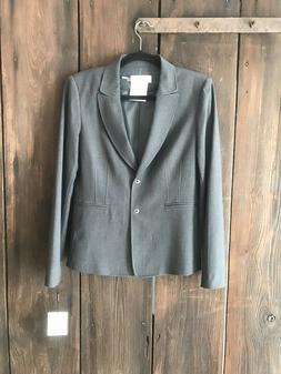 Calvin Klein Charcoal Gray Womans Suit Jacket Size 6