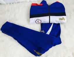 ASICS Chinse taipei Track Suit Jacket & Pants NWOT Size Larg